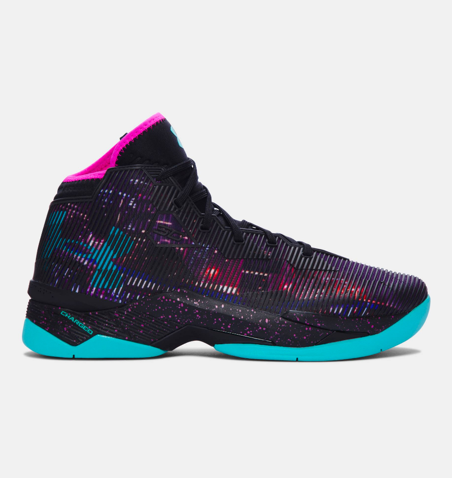 black and purple under armour shoes