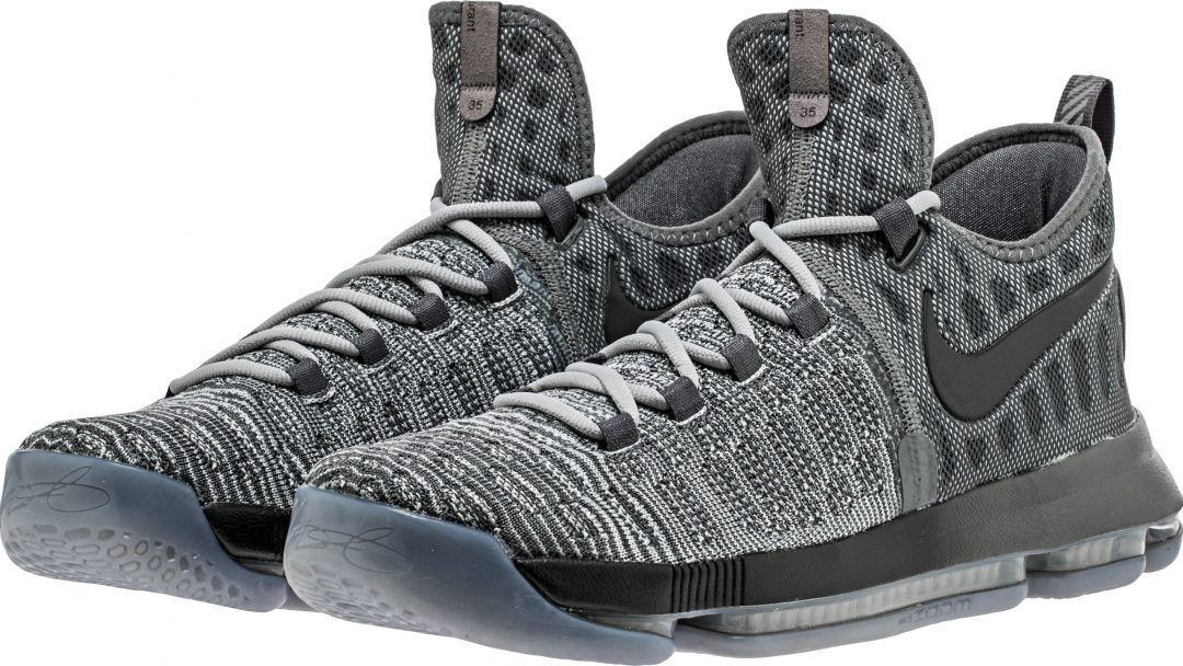 New Men Nike KD 9 Wolf Grey Shoes