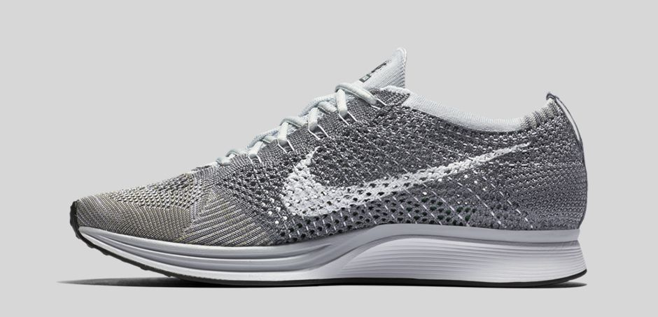 ... the nike flyknit racer in pure platinum releases ...