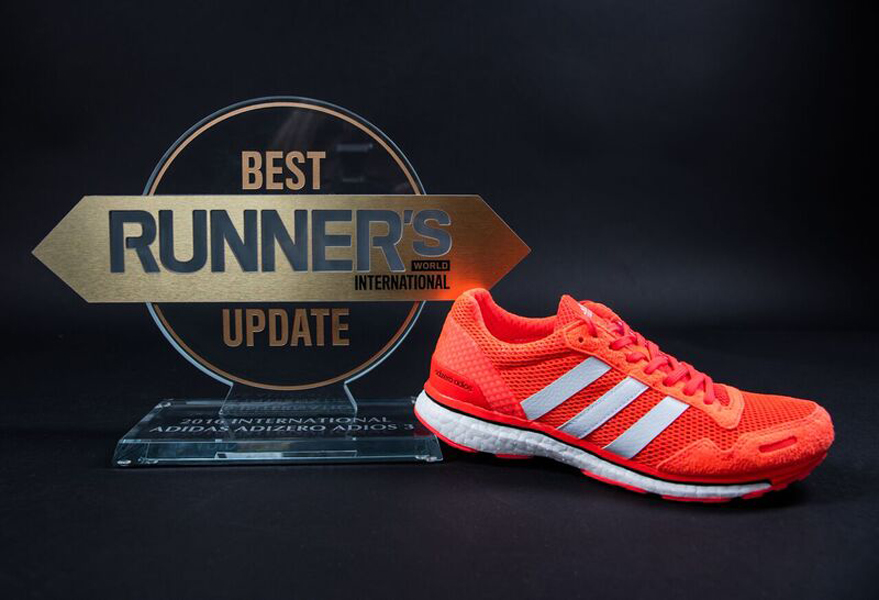 adidas Adizero Adios Boost 3.0 Recognized for Best Update Award ...