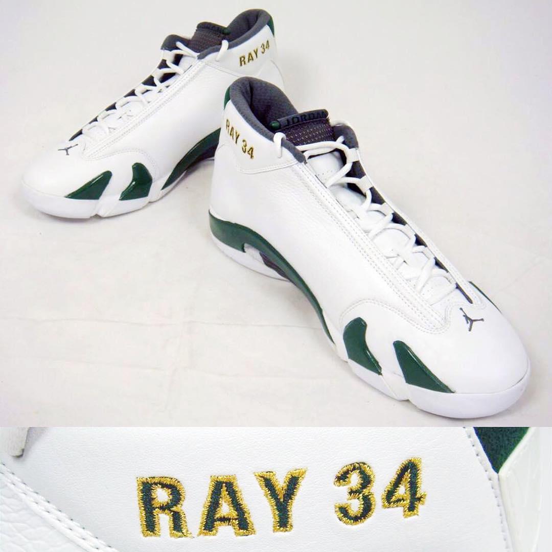 save off ec9d3 1163c ray allen Air Jordan 14 - Supersonics PE - WearTesters
