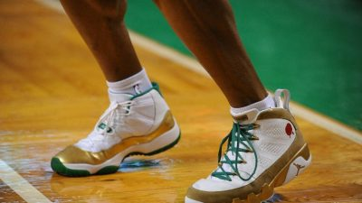ray allen Air Jordan 11 Retro/Air Jordan 9 Retro - Special Boston Celtics Home PE