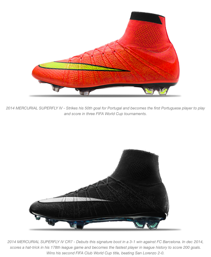 nike and cristiano ronaldo mercurial boots 8