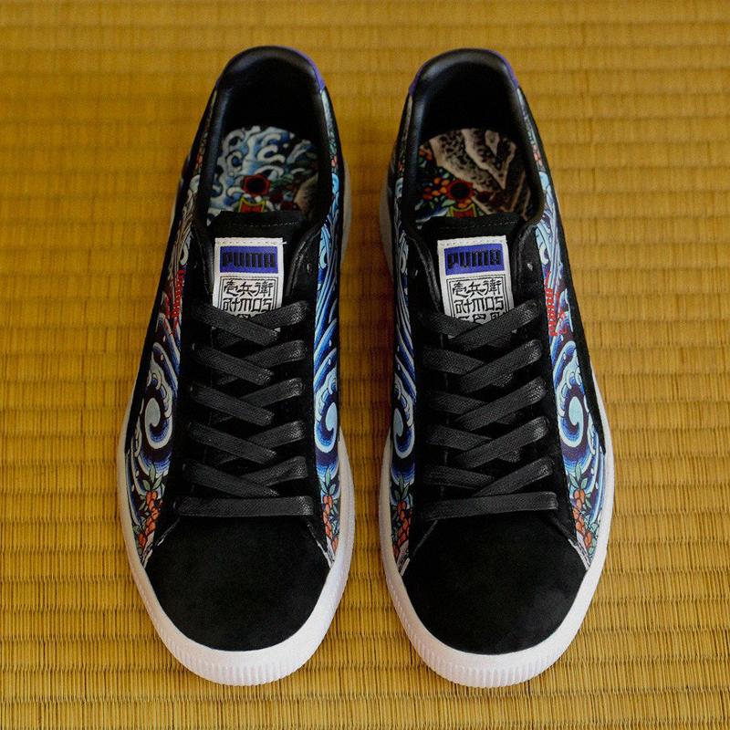los angeles 400d9 7aa41 Puma Clyde x atmos x Three Tides Tattoo 'Ukiyo-E' - WearTesters
