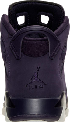 NIKE AIR JORDAN 6 RETRO PURPLE DYNASTY - heel