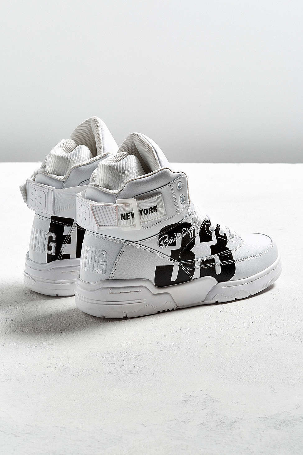 urban outfitters x ewing 33 hi NYC white black 2