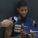 Watch Paul George Geek Out Over His Own Shoe