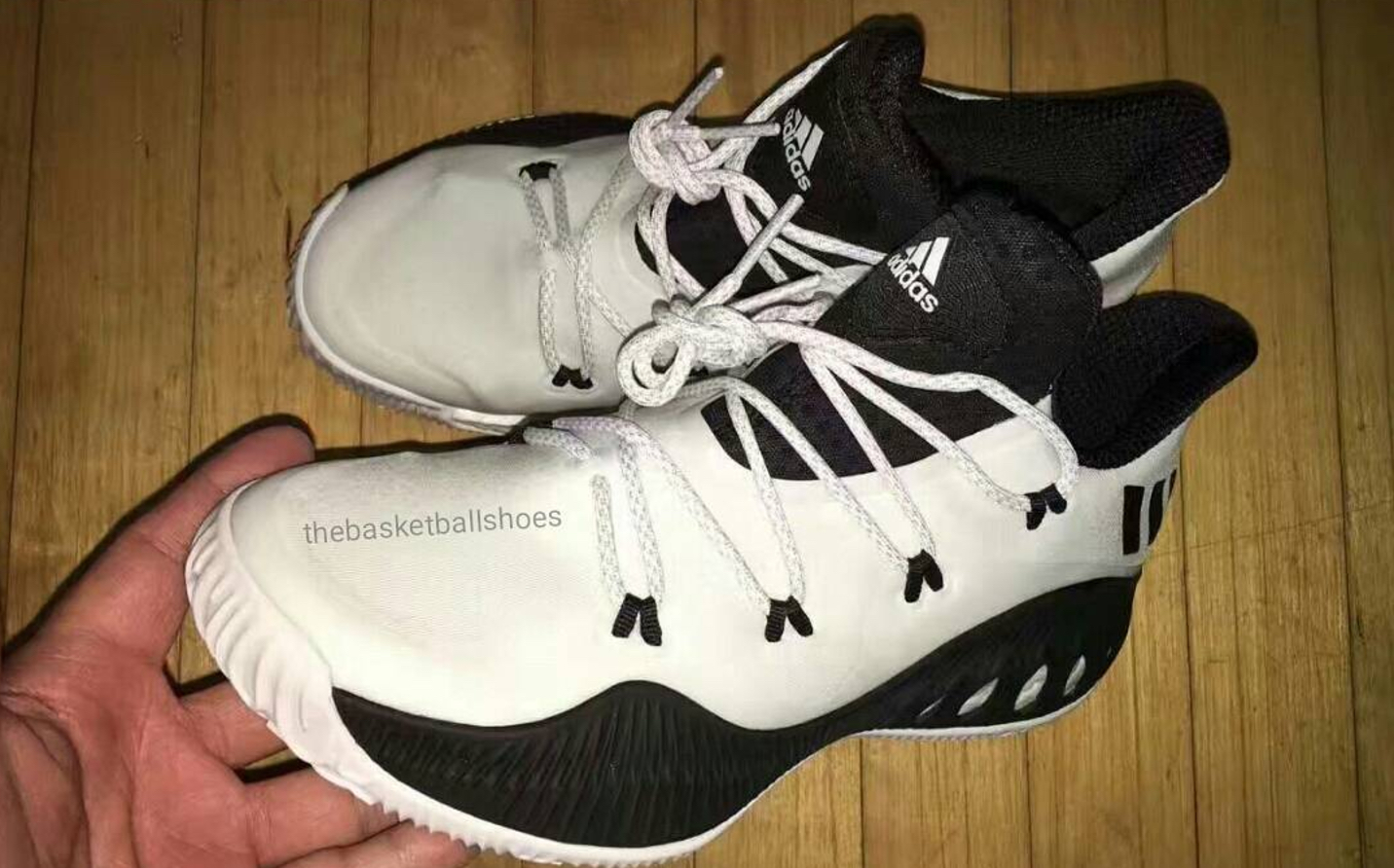 design intemporel 55d99 57fdf An adidas Crazy Explosive Low in Black/White Has Hit the Web ...