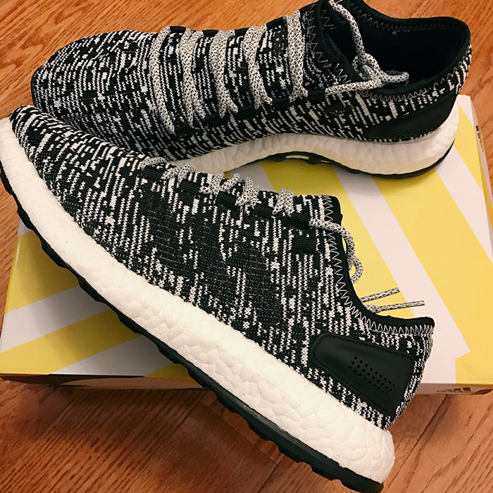 The 2017 adidas Pure Boost 'Oreo' is