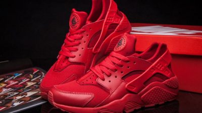 The All-Red Nike Air Huarache Has Restocked