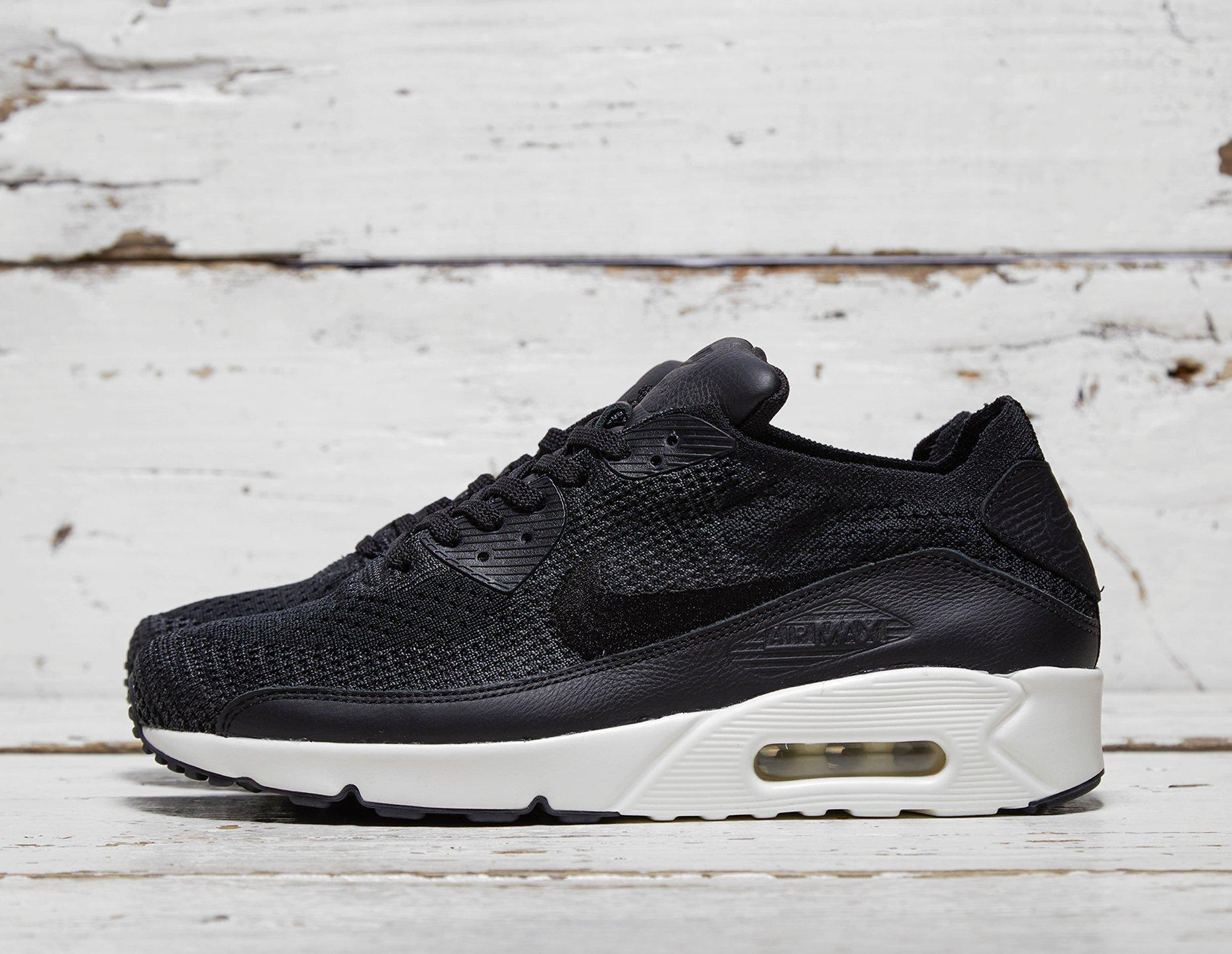 nike air max 90 flyknit black