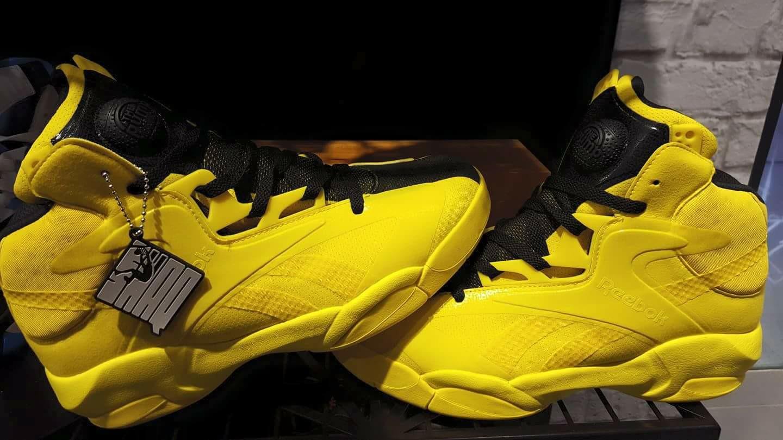 66025967213b ... reebok shaq attaq 25 anniversary yellow black · Kicks .