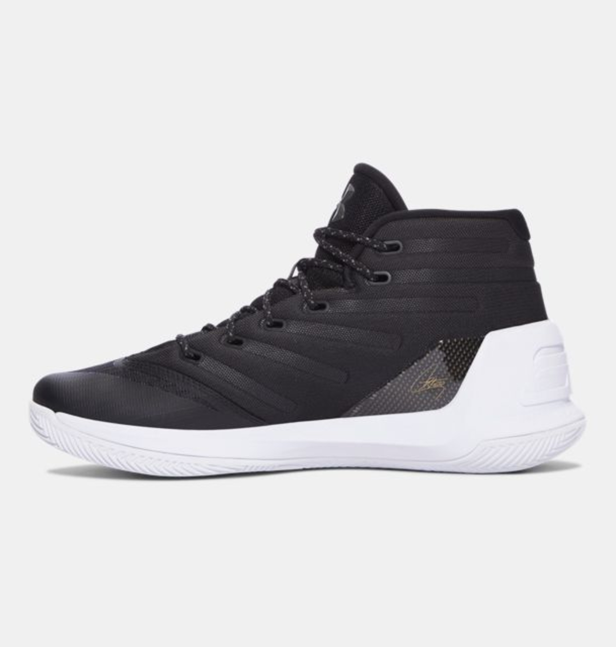 under armour curry 3 black white 1