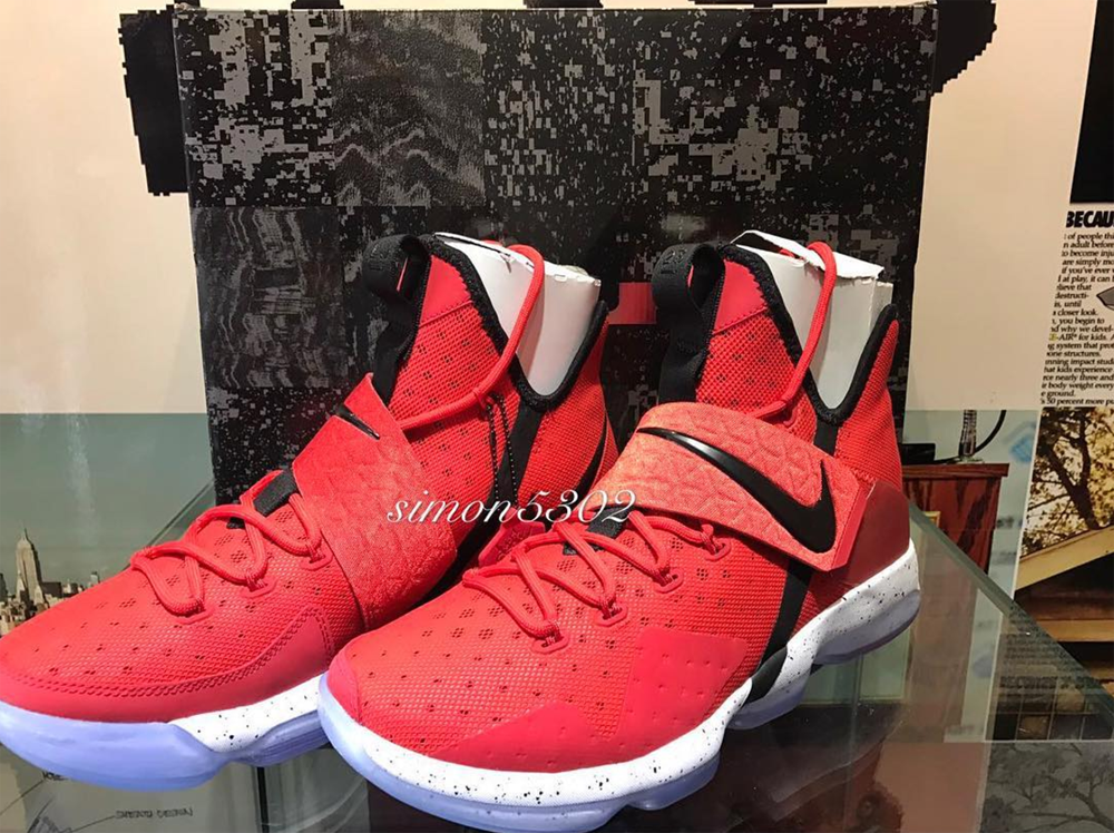 A First Look at the Nike LeBron 14 in University Red ...