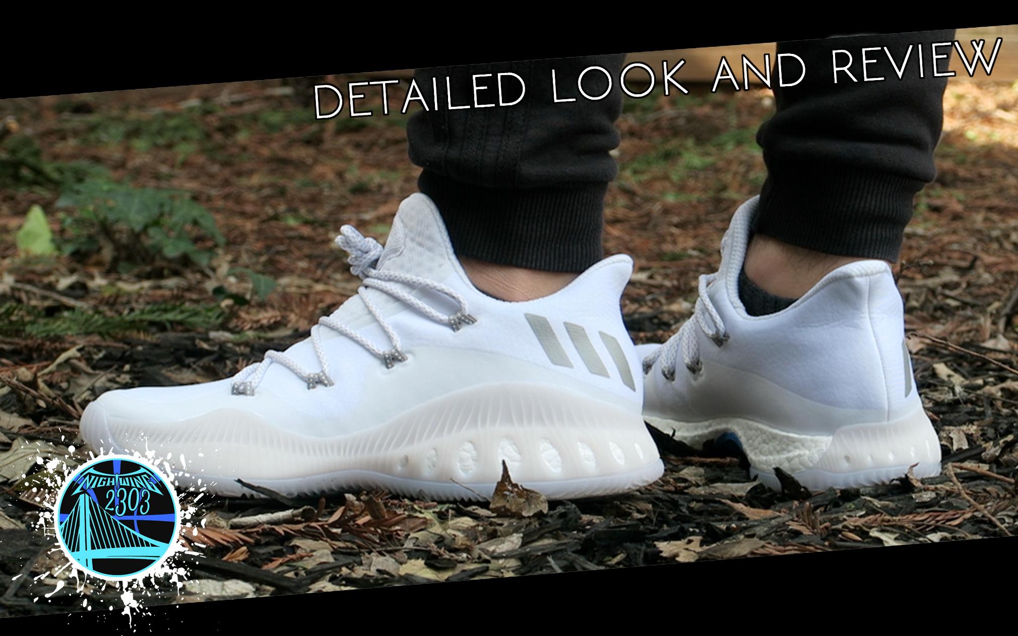 adidas pazzo esplosivo basso primeknit triplo scarpe bianche rilasciato