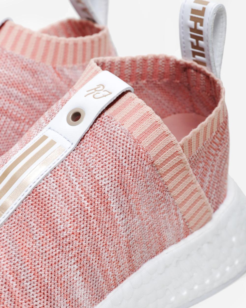 f34bac1ee845 NMD CS2 PK S.2. Kith X Naked Pink White Shoes Artemis Outlet
