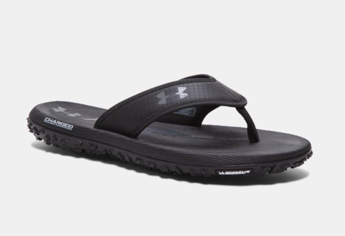 ua fat tire flip flop black 1