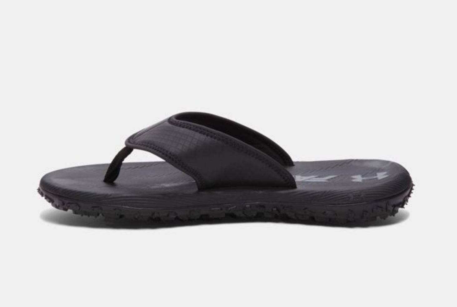 ua fat tire flip flop black 2