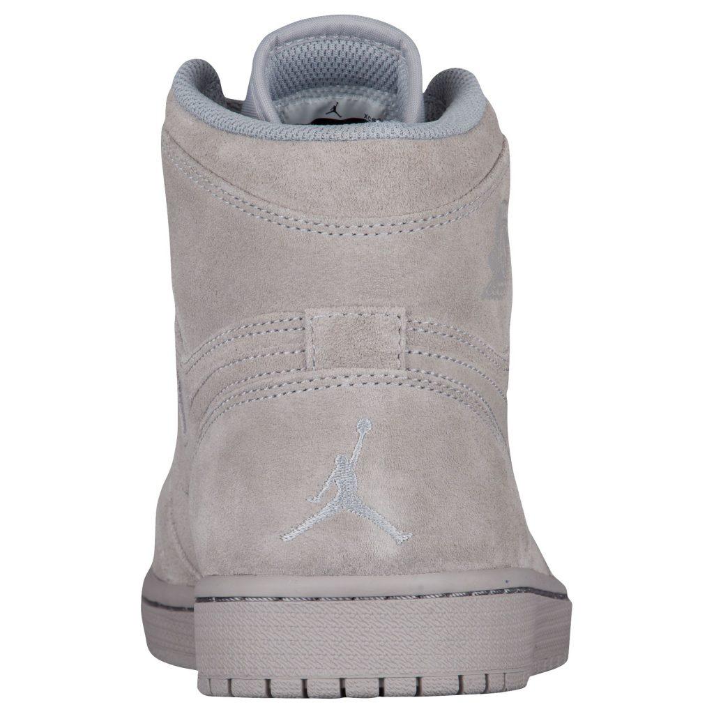 Air Jordan 1 Retro High Suede - Wolf Grey - Heel