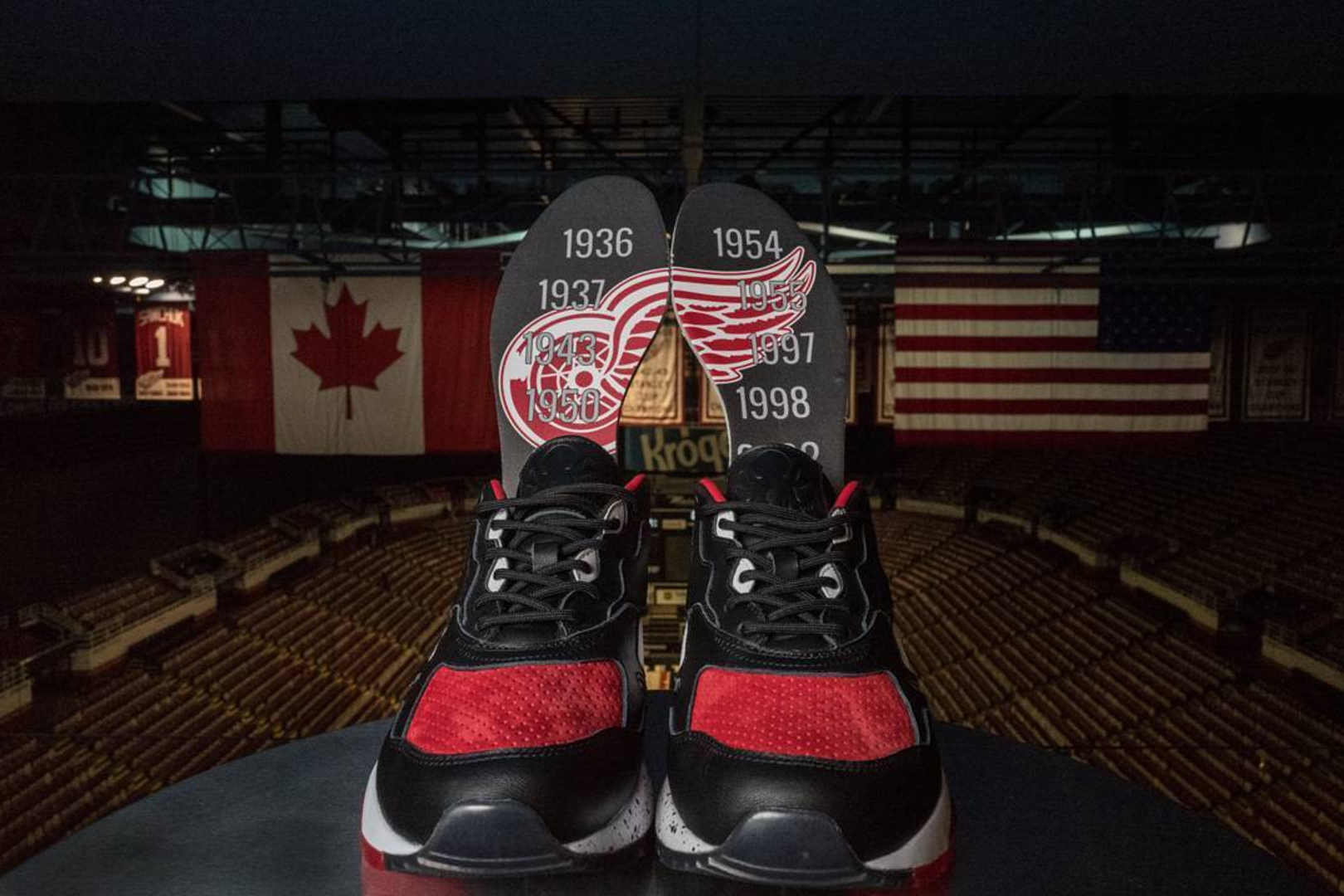 Burn Rubber x Detroit Red Wings x Reebok Bolton 1