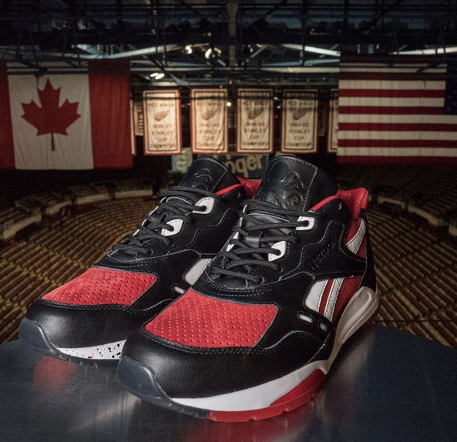 Burn Rubber x Detroit Red Wings x Reebok Bolton 6
