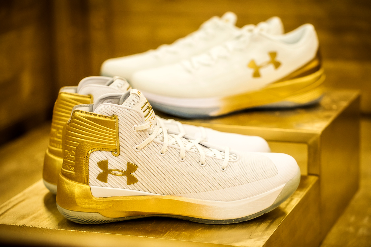 sports shoes c467d 23177 Under Armour Hooks Up its NCAA Basketball Teams with Gold ...