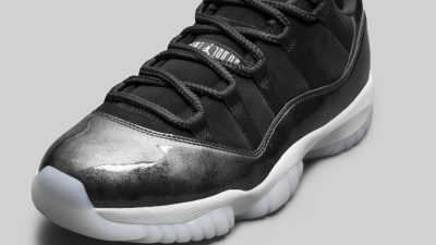 air jordan xi retro low black suede 5
