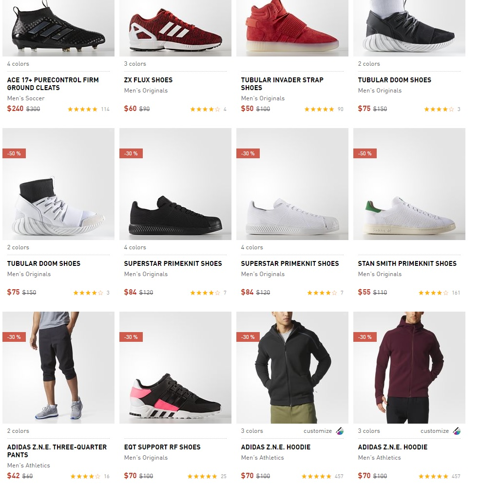 adidas sale items