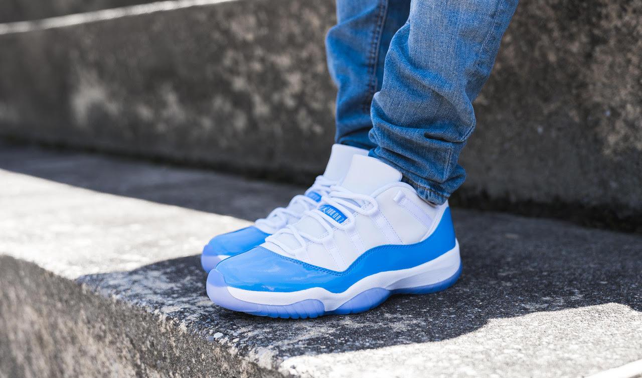 2015 Nike Air Jordan 11 Retro University Blue White