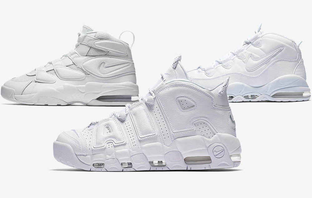 save off fa495 11f51 An Official Look at the Triple White Nike Air Uptempo Pack ...