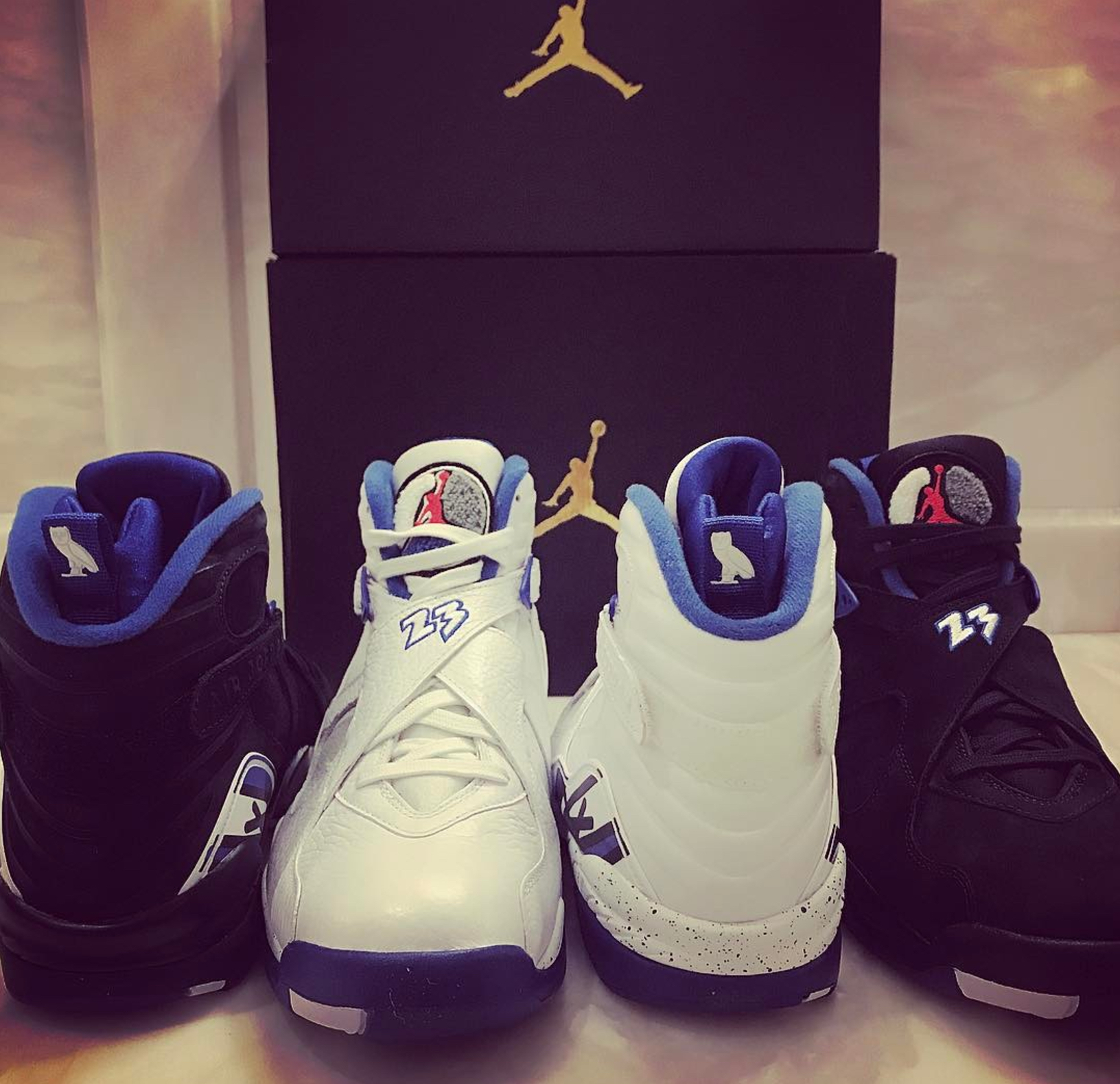 premium selection 216e2 40949 Drake Flaunts Upcoming OVO Air Jordan 8 'Calipari Pack ...
