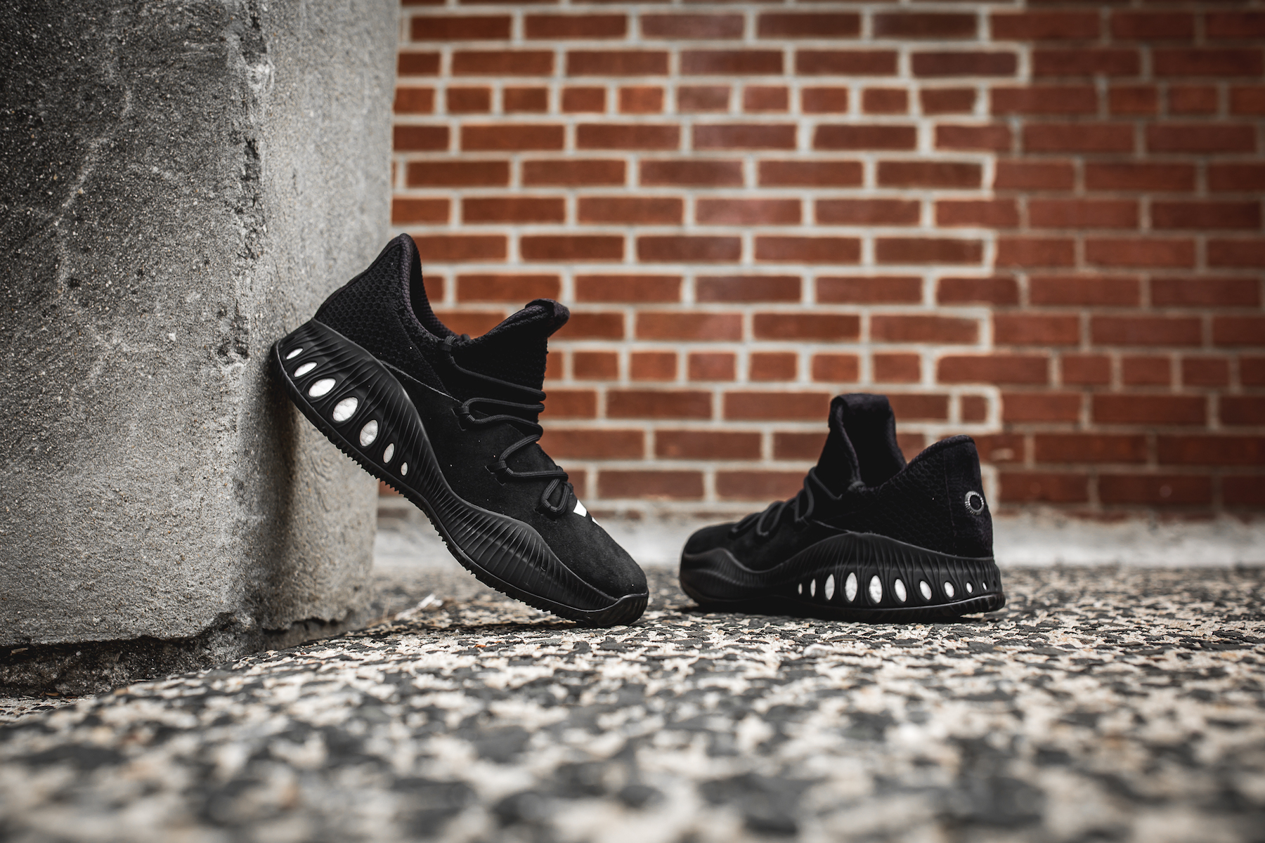 day one adidas crazy explosive black 1 weartesters. Black Bedroom Furniture Sets. Home Design Ideas
