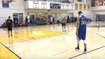 possible curry 4 warriors practice 1