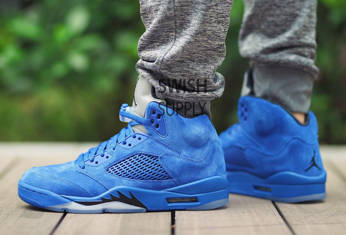 super popular 0169b 4b86e Are You Digging the Air Jordan 5 in 'Blue Suede'? - WearTesters