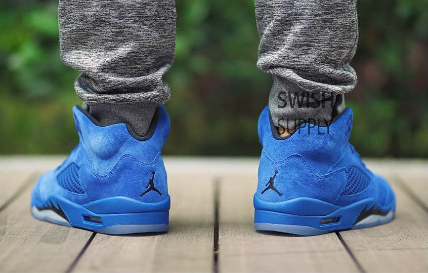 super popular 43570 f79e4 Are You Digging the Air Jordan 5 in 'Blue Suede'? - WearTesters