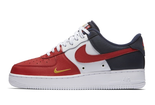 air force 1 red and white blue
