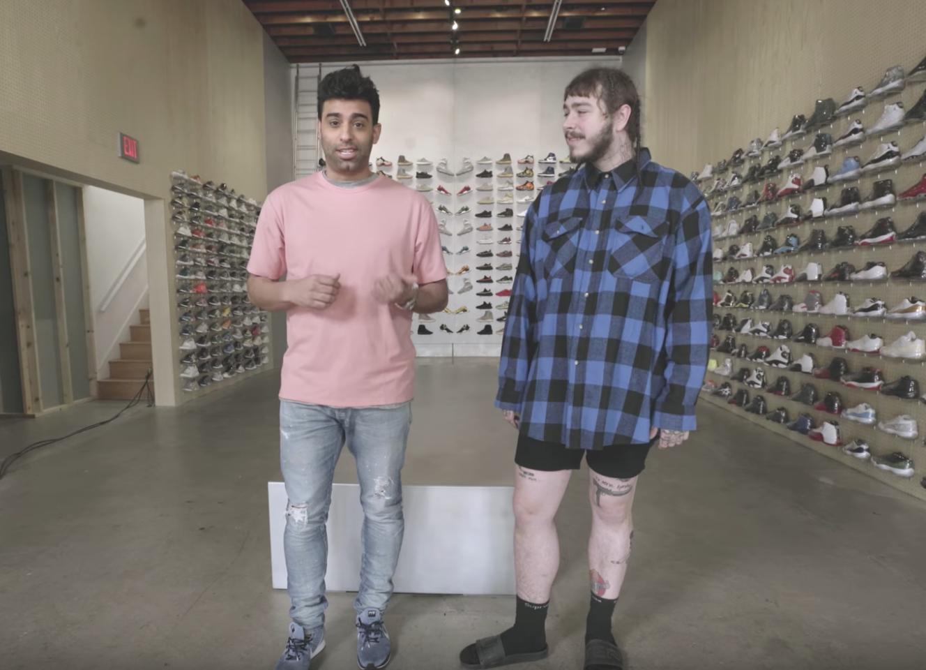 Temblar fecha Mexico  Post Malone Goes Sneaker Shopping - WearTesters