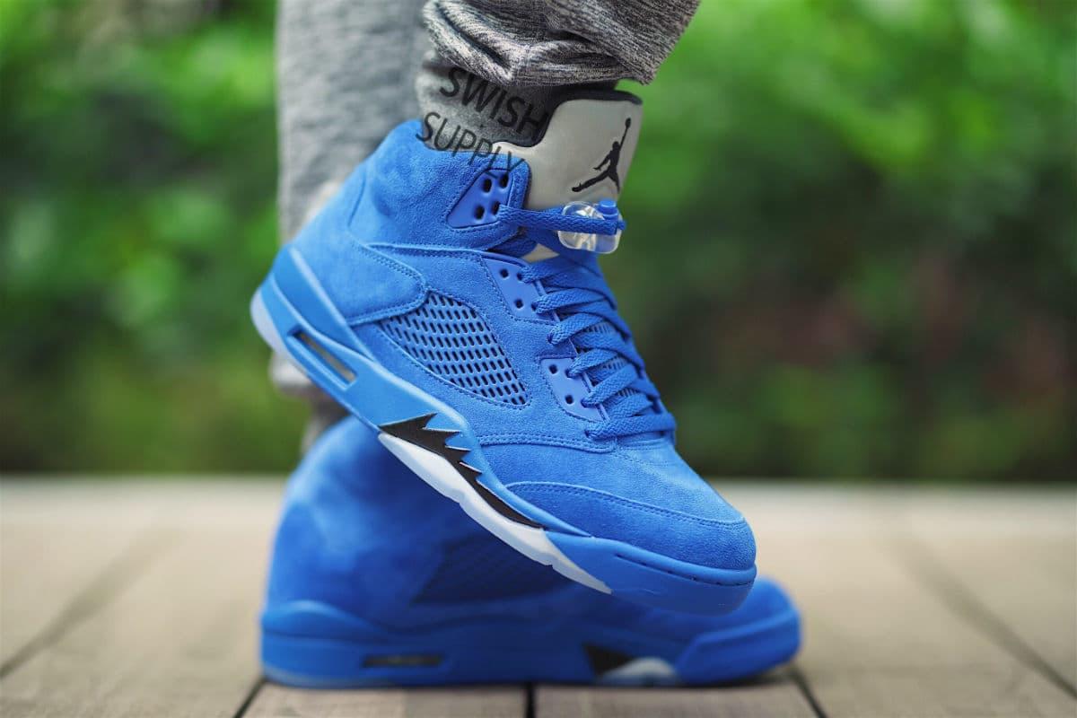 Air Jordan 5 in 'Blue Suede