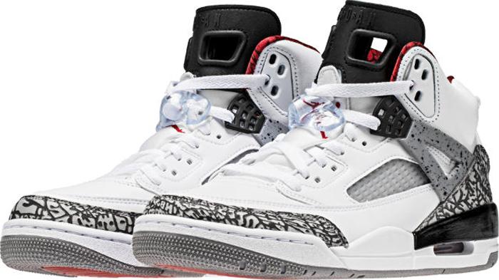 The Jordan Spiz'ike in White/Cement Has