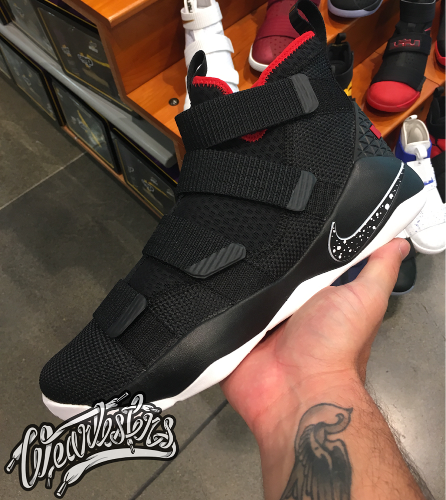 wholesale dealer cb52e 4f119 The Nike LeBron Soldier 11 in Black/White-Red Releases in ...