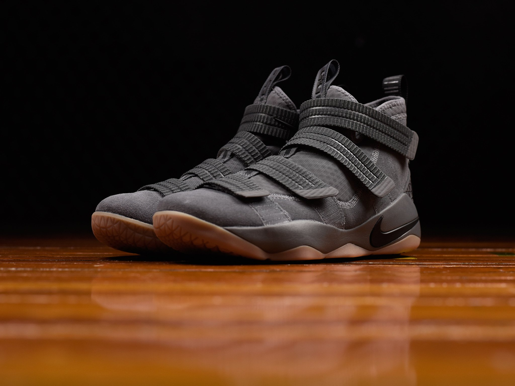 buy popular 1c523 ac47f The Nike LeBron Soldier 11 has Dropped in 'Grey Gum ...