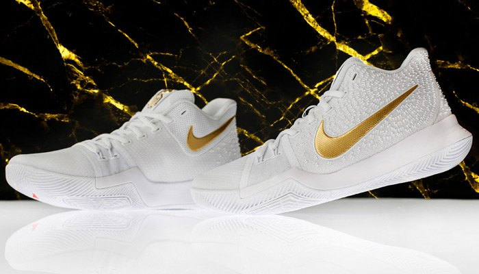 online store de984 df6e9 This White and Gold Nike Kyrie 3 is Available Now - WearTesters