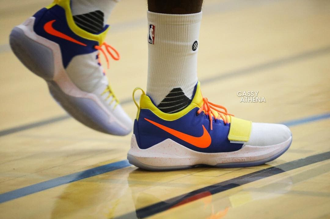 super popular 48041 0c9fe Paul George Spotted in an OKC-Themed PG1 - WearTesters
