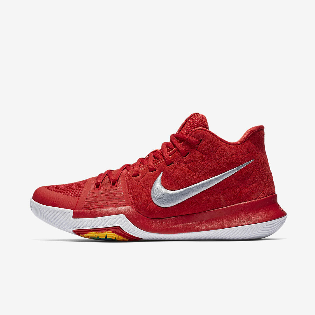85ed797b45432 Another University Red Kyrie 3, With a Suede Upper This Time ...