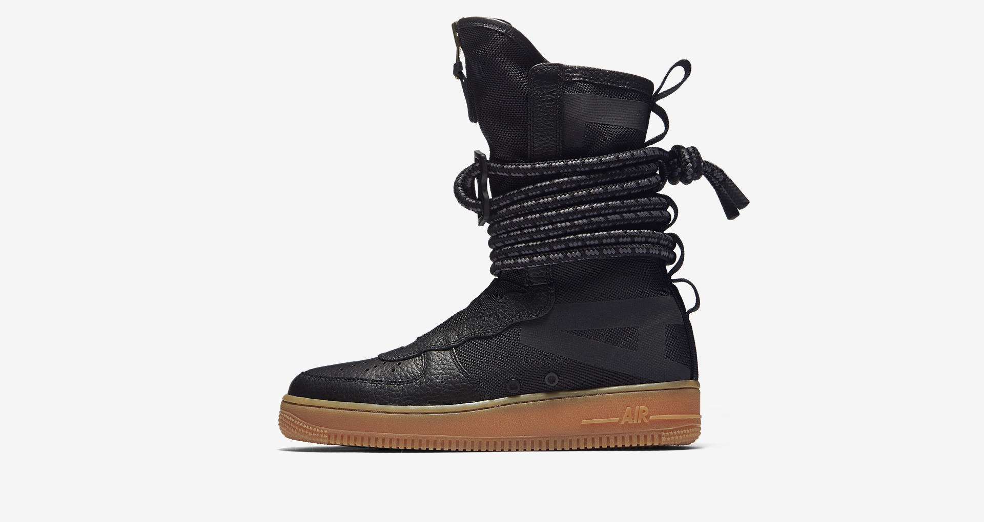 low priced a5b65 f4a55 nike SF AF1 high black gum medium zipper womens 1 - WearTesters