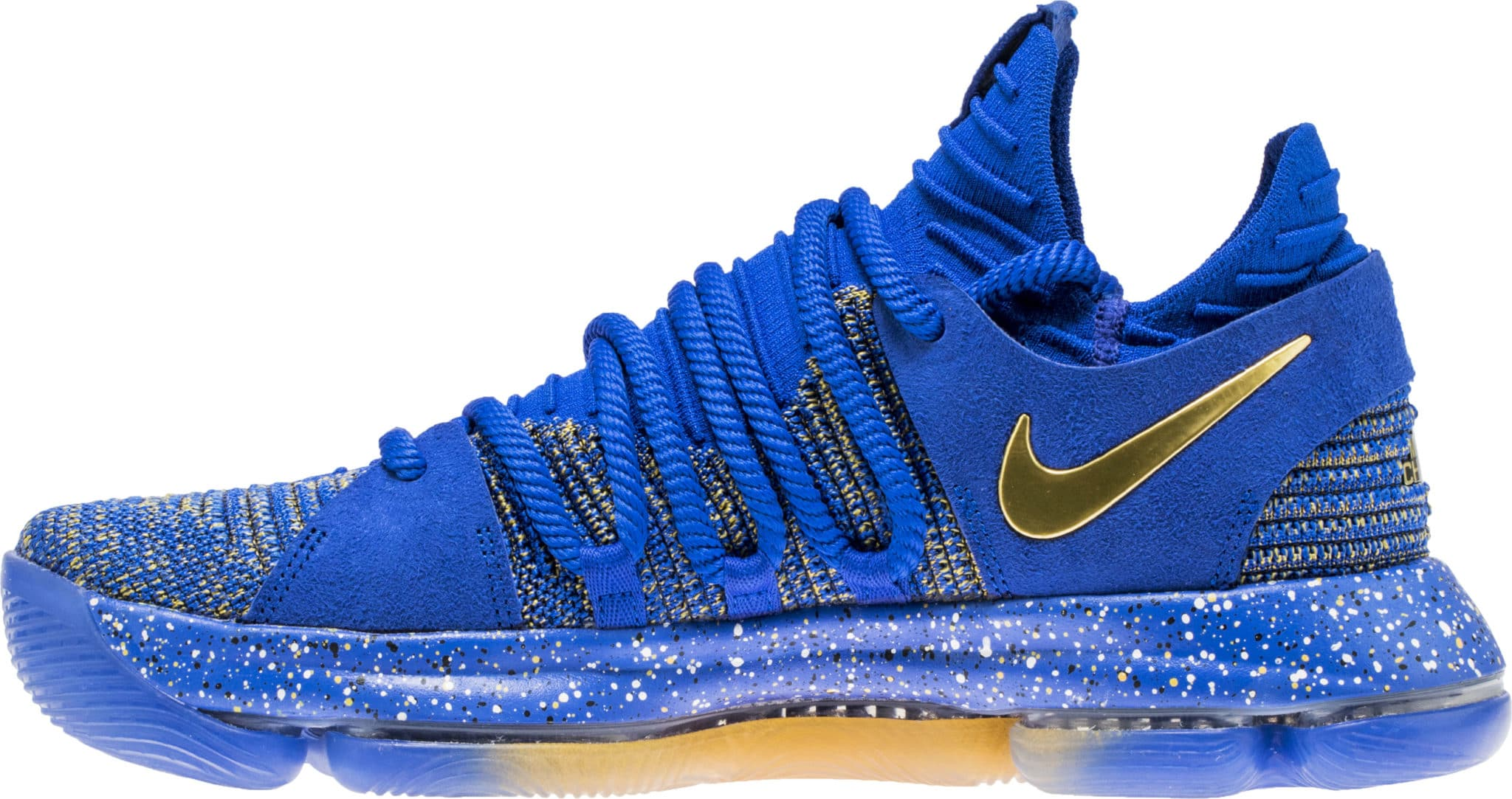 blue gold womens nike kd 10 shoes