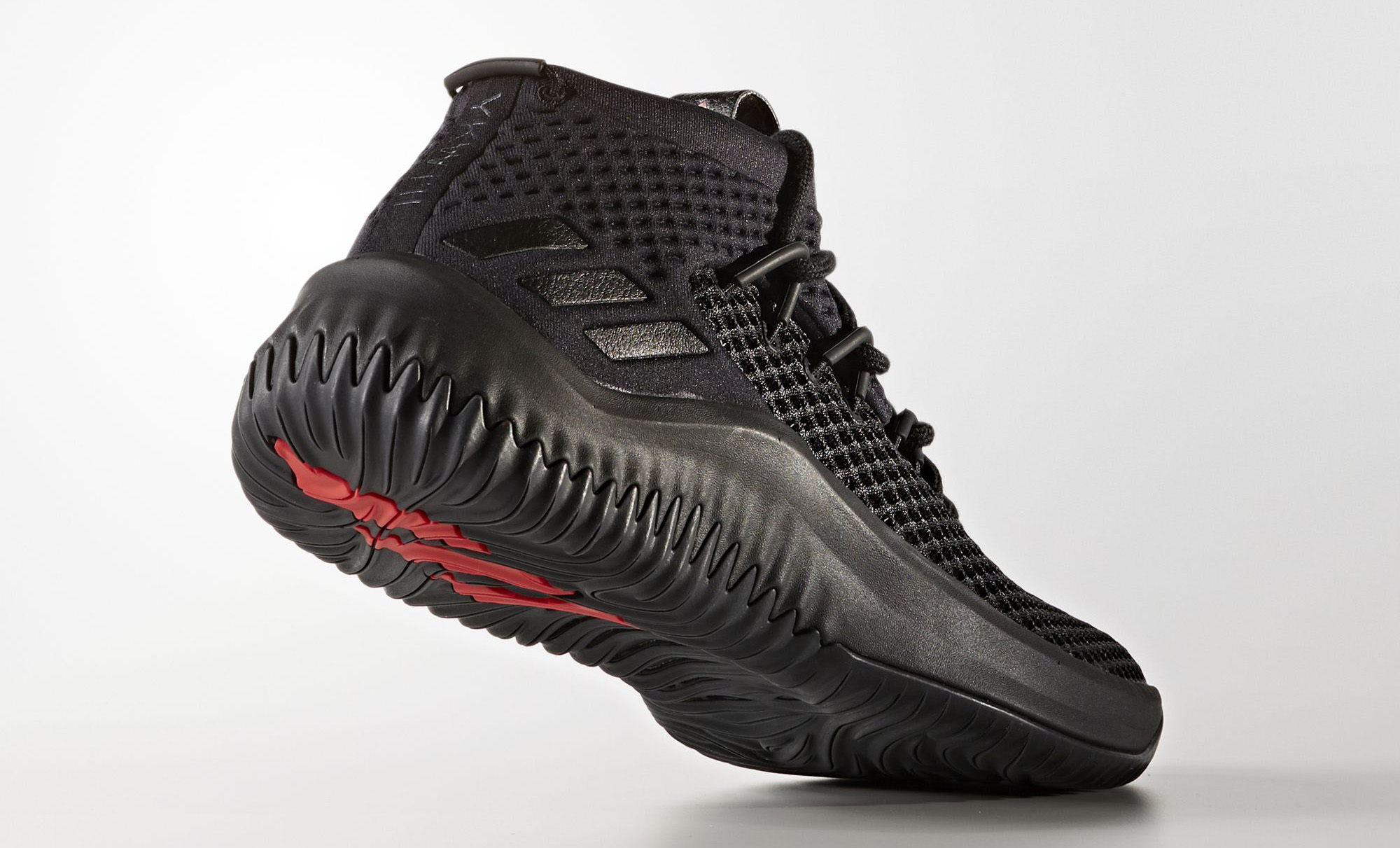 designer fashion 3d8c0 8ce7c ... the black scarlet edition of the adidas dame 4 becomes available at  eastbay beginning november 10