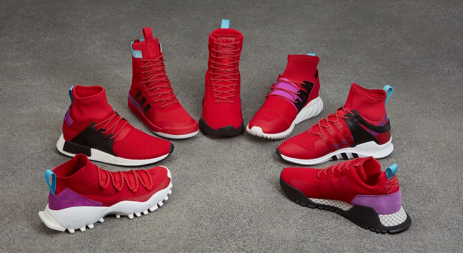 pretty nice 1c82e 01dbe adidas Originals Unveils Winter Scarlet/Shock Purple Pack ...