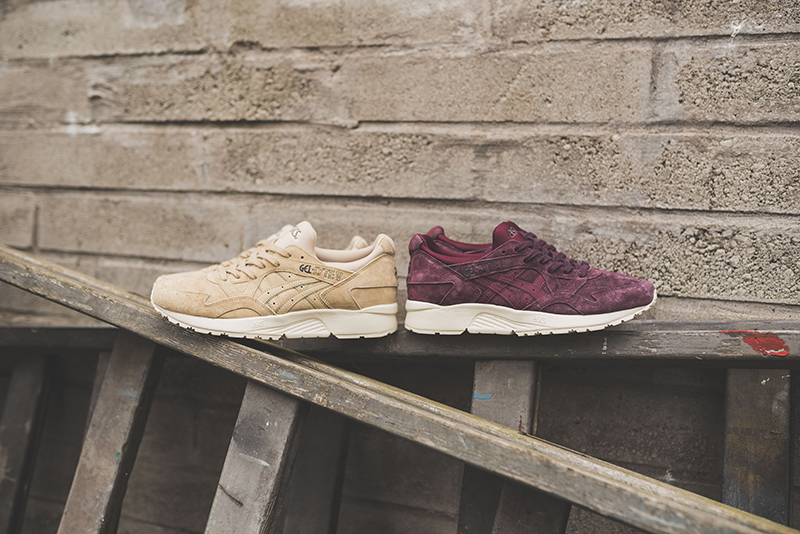best website f8c90 00f23 The Asics Gel-Lyte V Gets Dressed in Eggplant and Taos Taupe ...