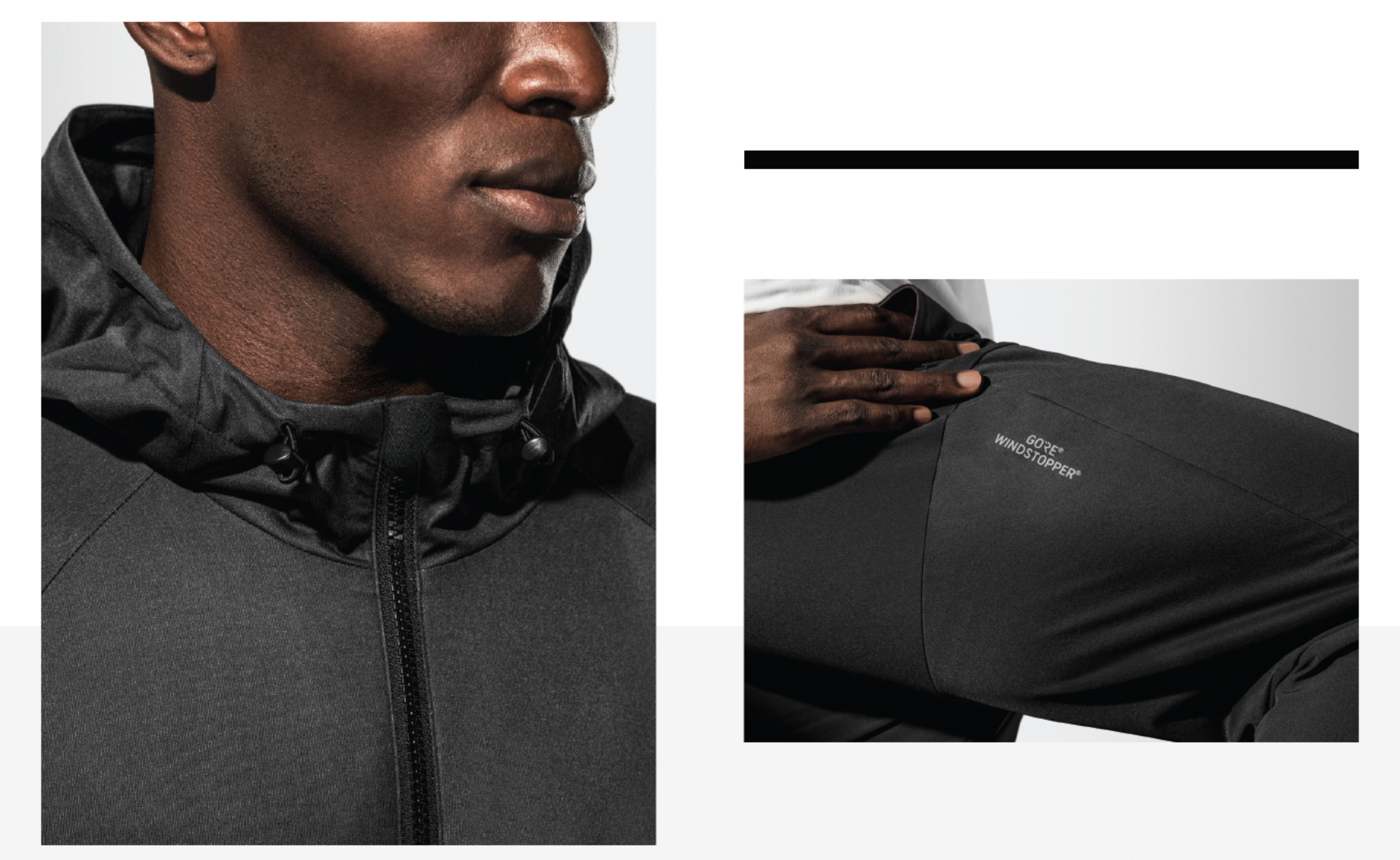 Under Armour Mens Unstoppable Gore Windstopper Jacket Top Black Grey Sports